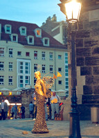 Dresden, beautiful street performer