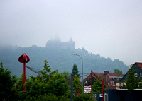 The Castle viewed through the clouds/fog from Miniature Park