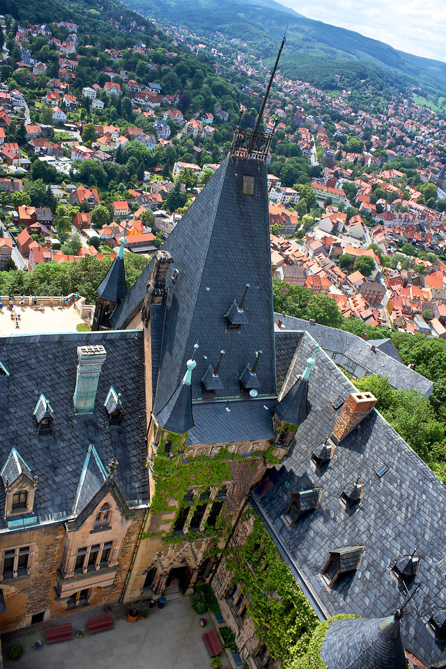 View from Wernigerode's Castle